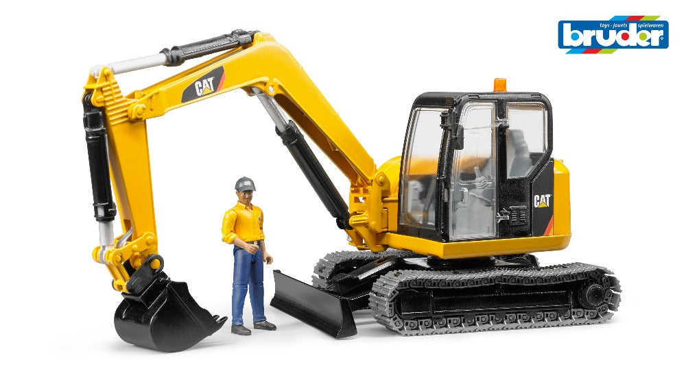 Caterpillar Mini Excavator w/worker 1:16 - Bruder