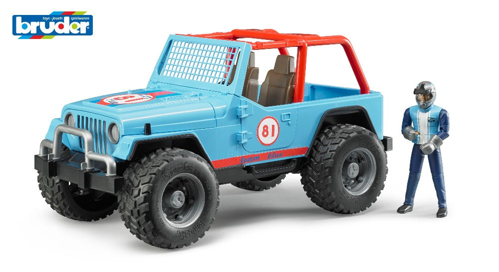 Jeep Cross Country racer blue w/driver 1:16 - Bruder