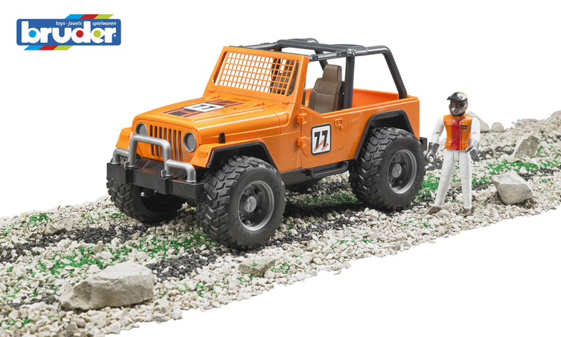 Jeep Cross Country racer orange w/driver 1:16 - Bruder