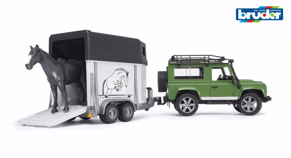 Land Rover Defender s/wagon w/horse 1:16 - Bruder