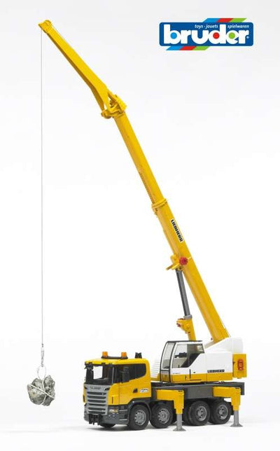 Scania R-Series Leibherr Crane Truck with Lights & Sound 1:16 - Bruder