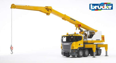 Scania R-Series Leibherr Crane Truck with Lights & Sound 1:16 - Bruder 2