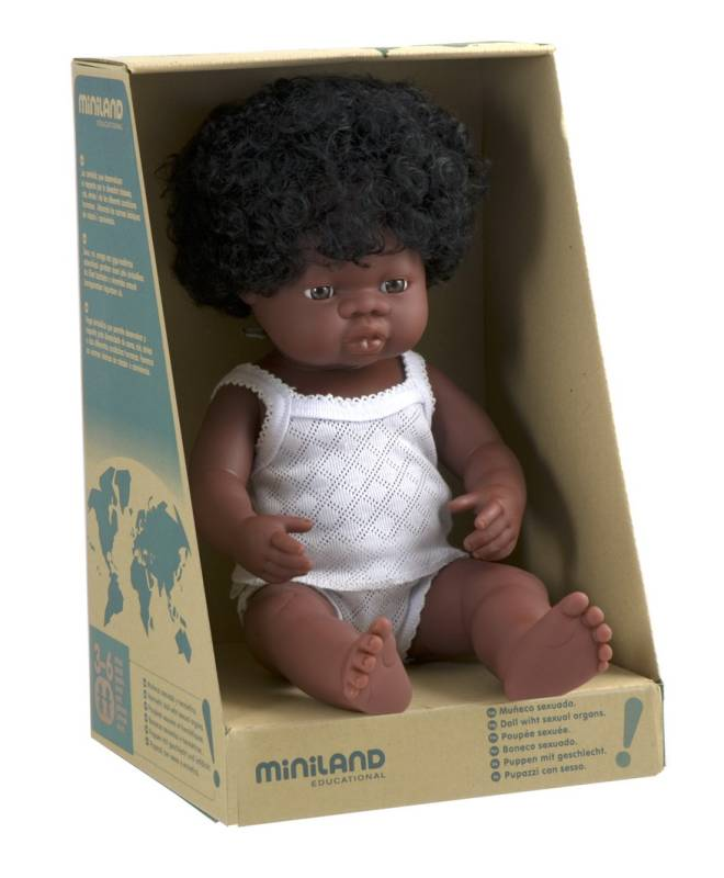 Baby Doll African Girl 38cm - Miniland