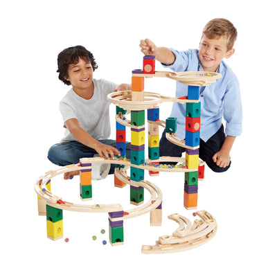 Quadrilla Cyclone Marble Run 198pc - Hape children