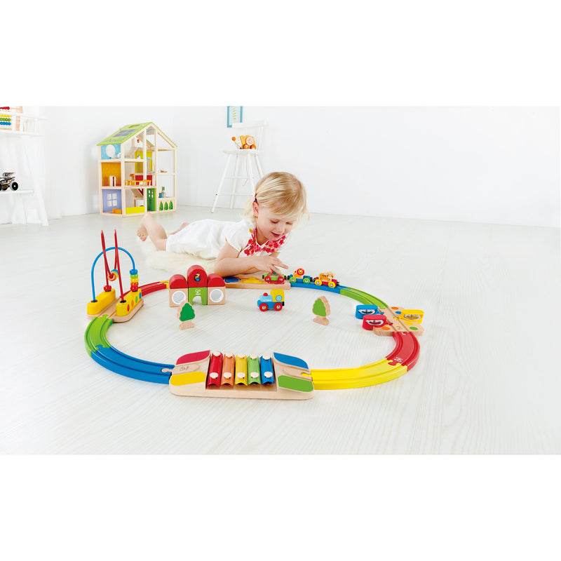 Rainbow Route Railway & Station Set - Hape