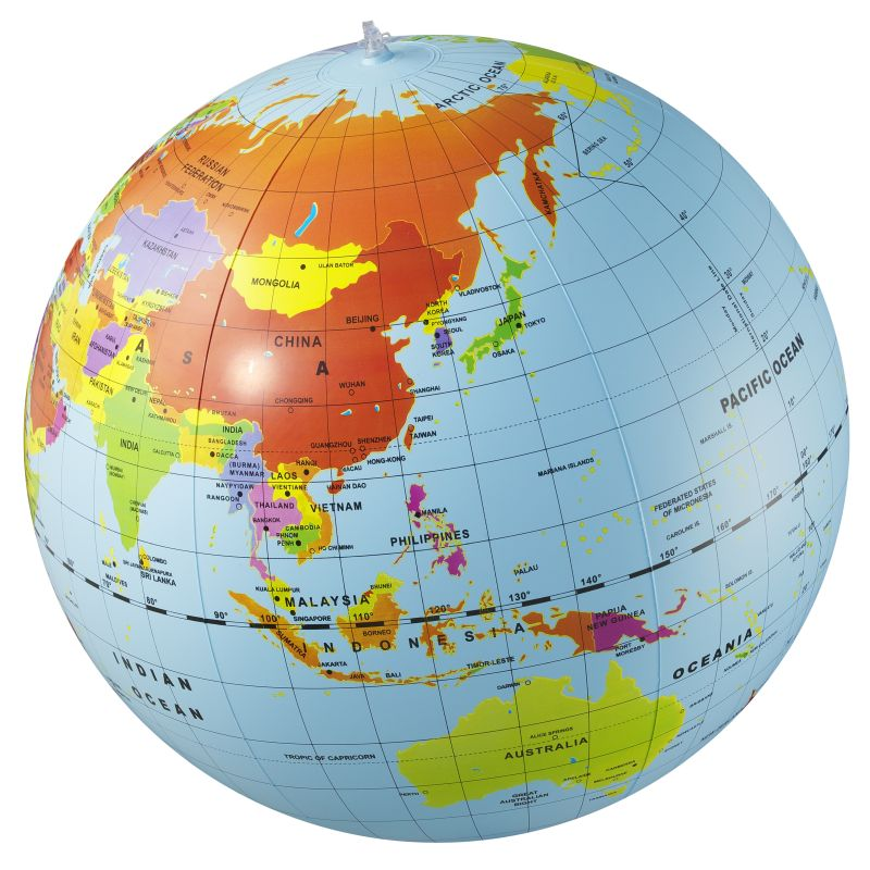 Giant Inflatable World Globe 50cm - Tiger Tribe