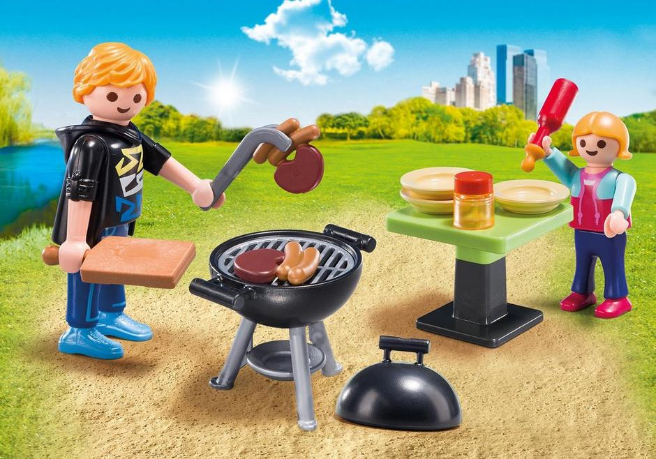 Backyard Barbecue Carry Case - Playmobil