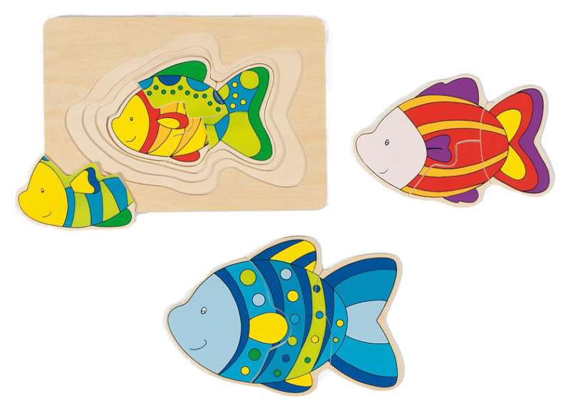 4 Layer Fish Puzzle - Goki