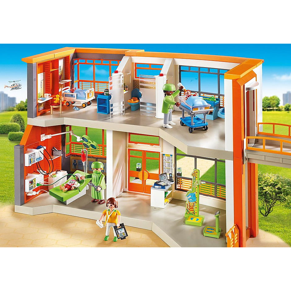Furnished Childrens Hospital - Playmobil