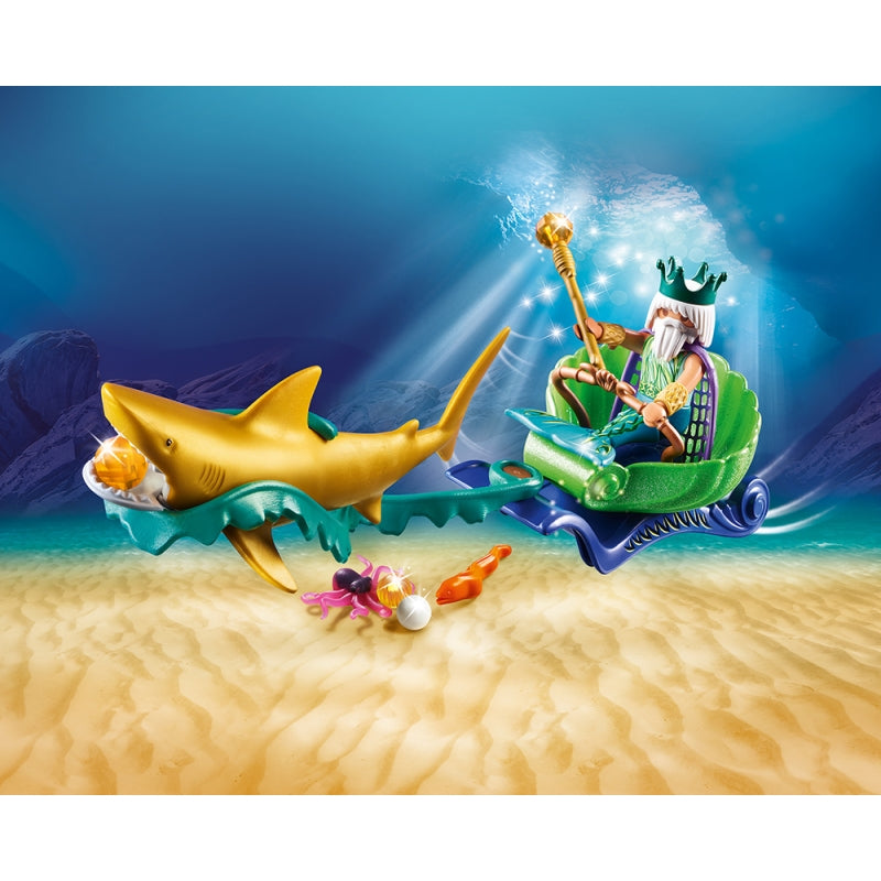 King of the Sea with Shark Carriage - Playmobil