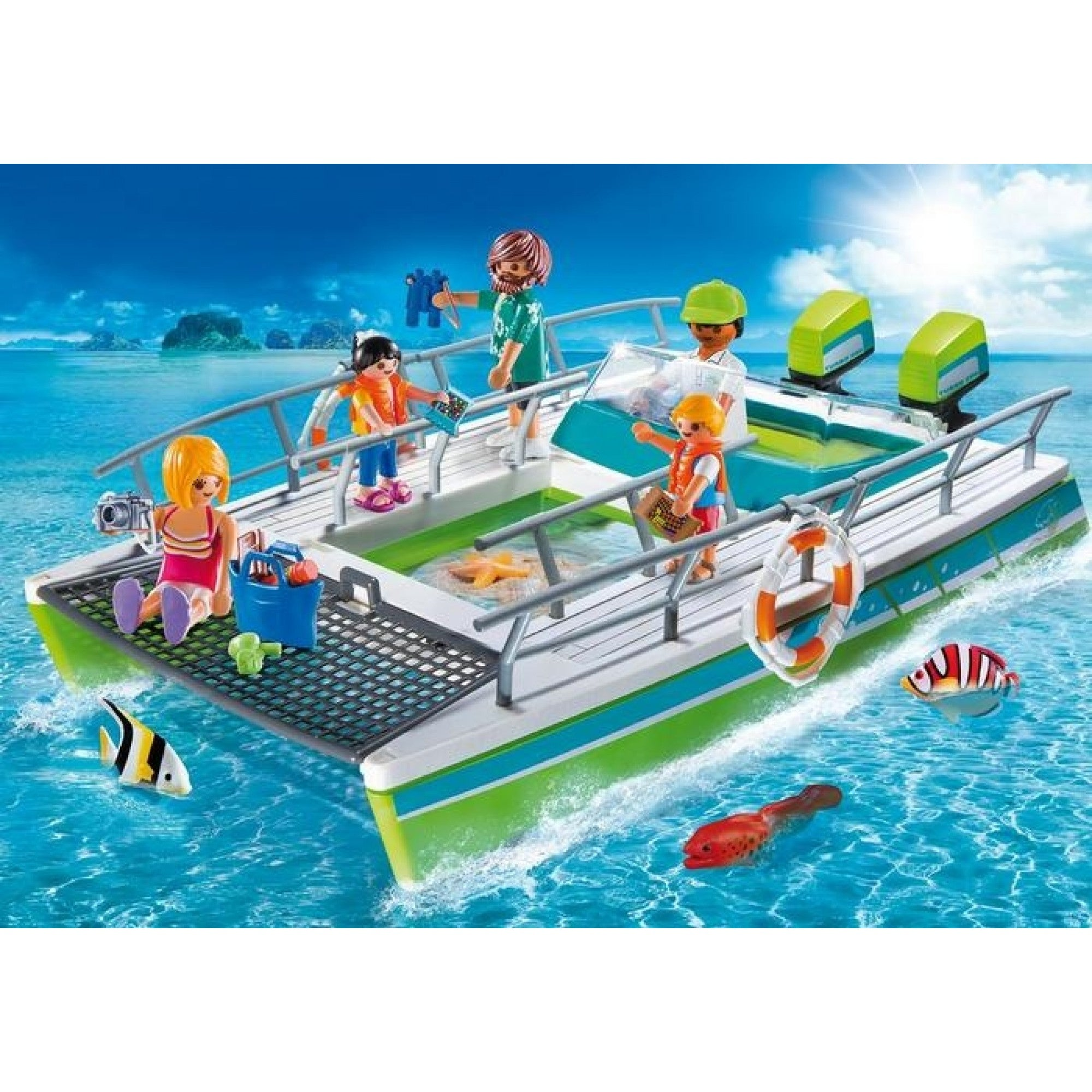 Glass Bottom Boat with Underwater Motor - Playmobil