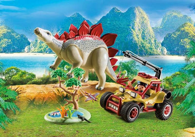 Explorer Vehicle With Stegosaurus - Playmobil Play