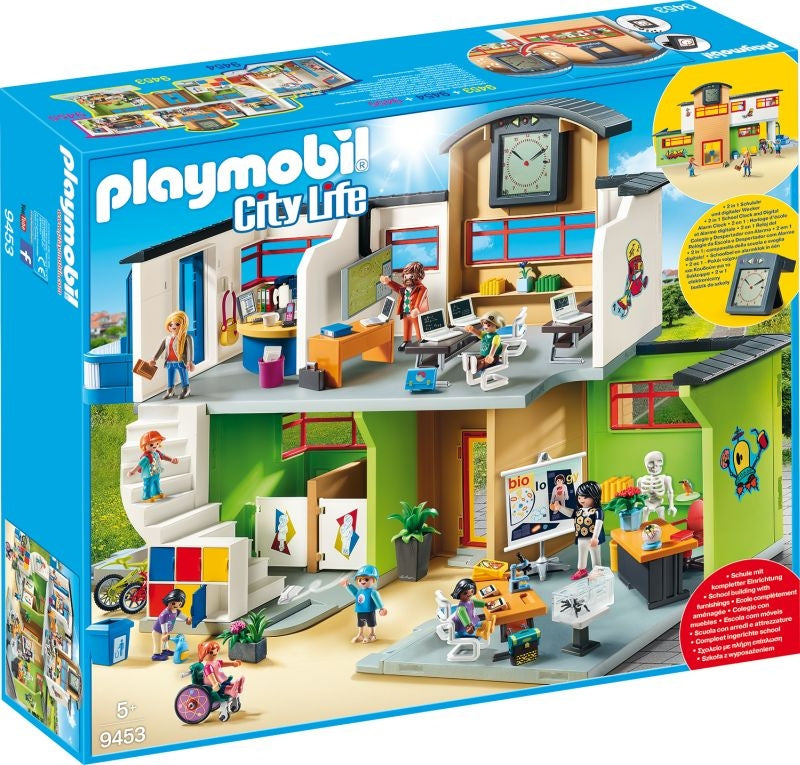 Furnished School Building - Playmobil