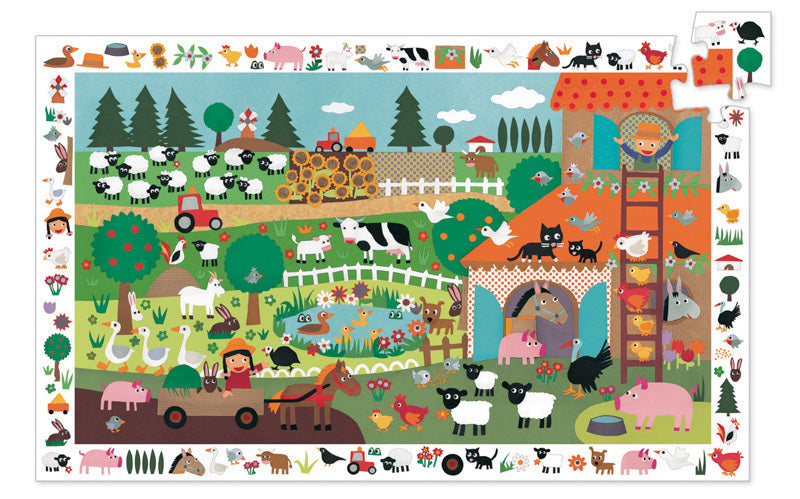 Farm Observation Puzzle 35pc - Djeco