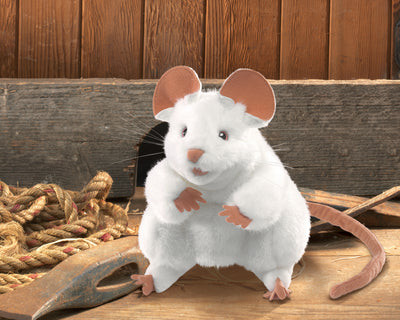 White Mouse Hand Puppet - Folkmanis