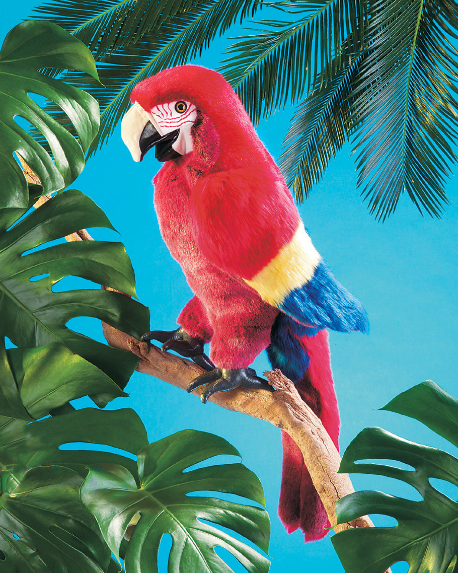Scarlet Macaw Hand Puppet - Folkmanis