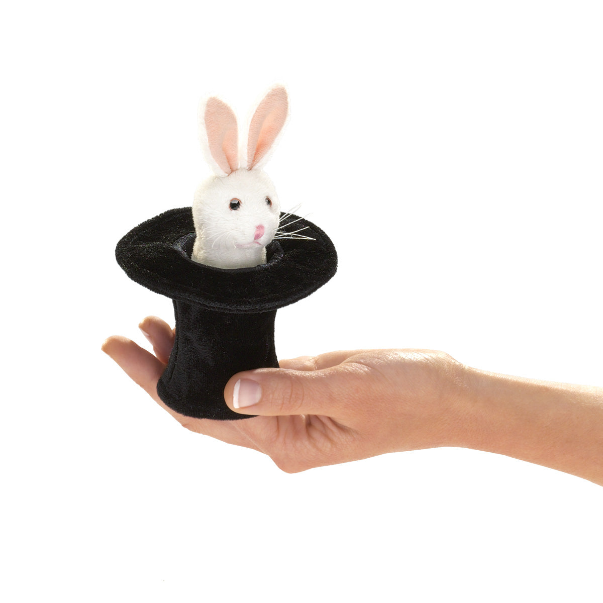 Mini Rabbit in Hat Finger Puppet - Folkmanis
