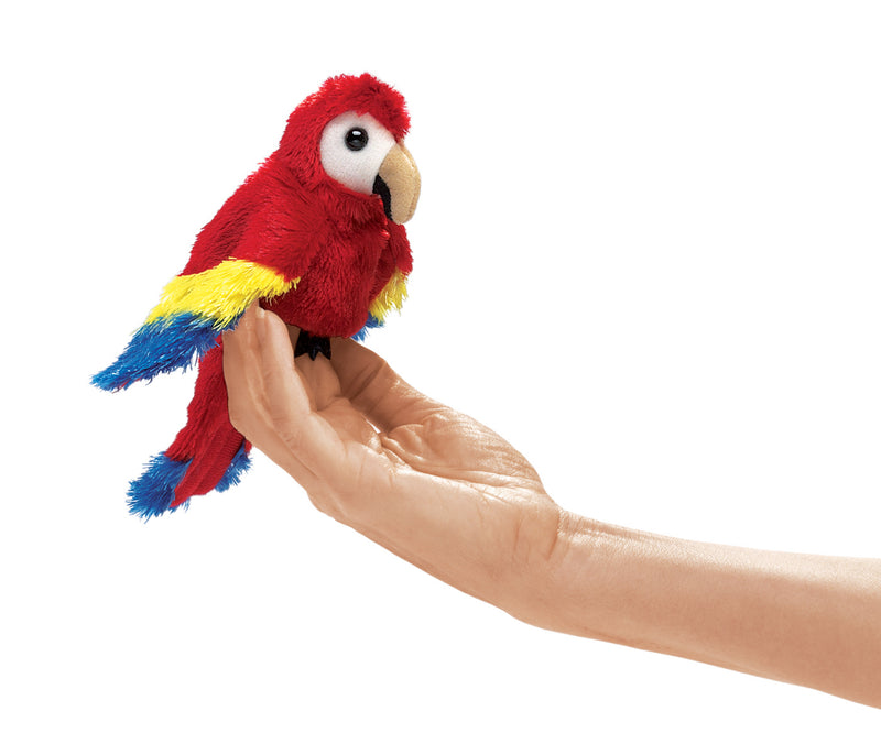 Mini Scarlet Macaw Finger Puppet - Folkmanis
