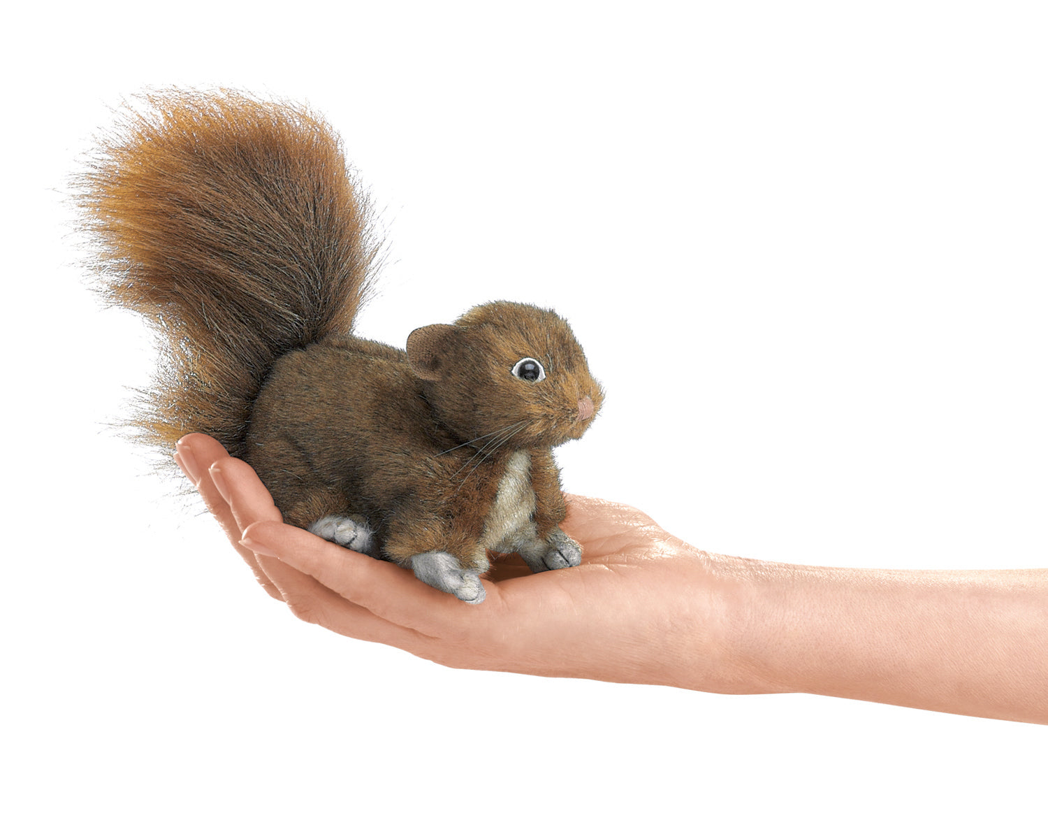 Mini Red Squirrel Finger Puppet - Folkmanis