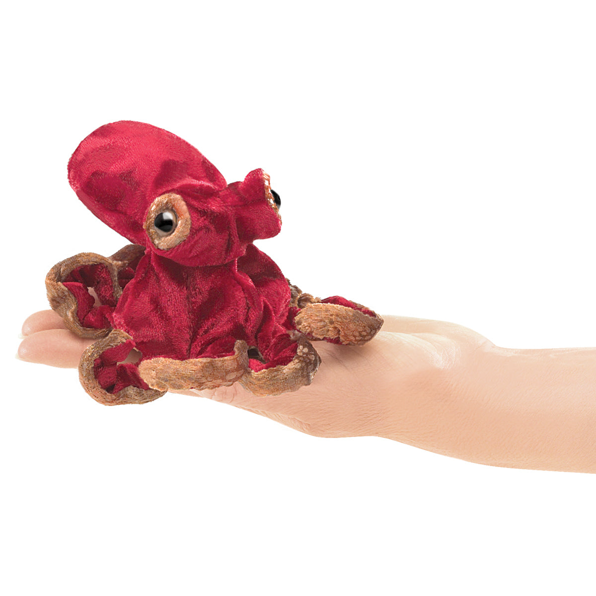 Mini Red Octopus Finger Puppet - Folkmanis