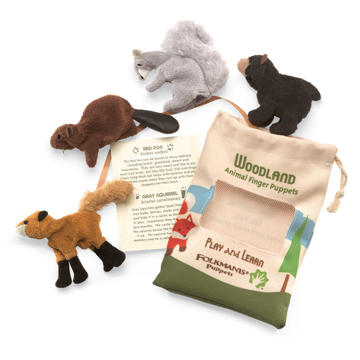 Woodland Animal Finger Puppet Set - Folkmanis