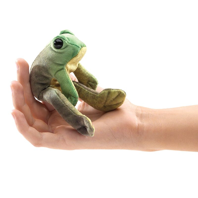 Mini Sitting Frog Finger Puppet - Folkmanis