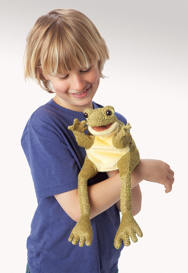 Funny Frog Hand Puppet - Folkmanis