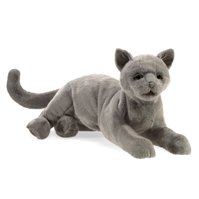 Purring Cat Hand Puppet - Folkmanis