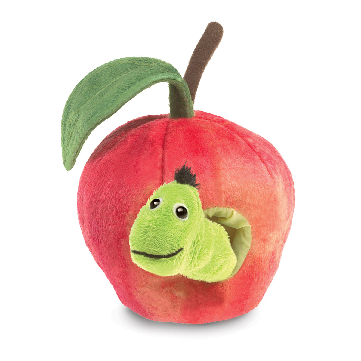Worm in Apple Finger Puppet - Folkmanis