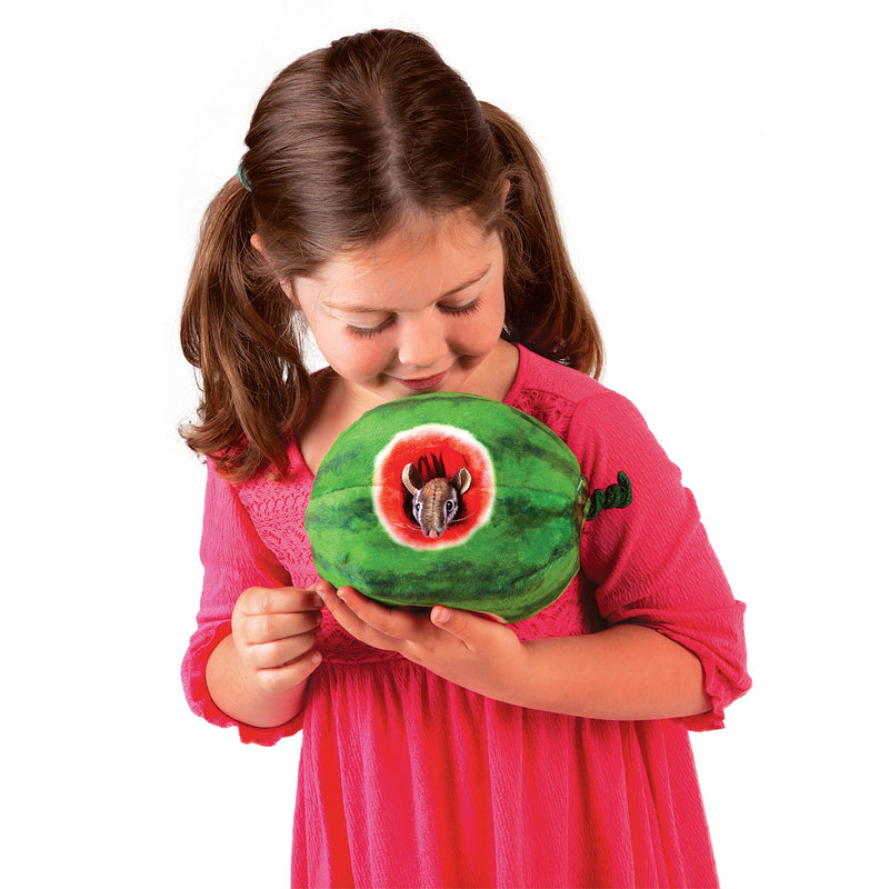 Chipmunk in Watermelon Puppet - Folkmanis