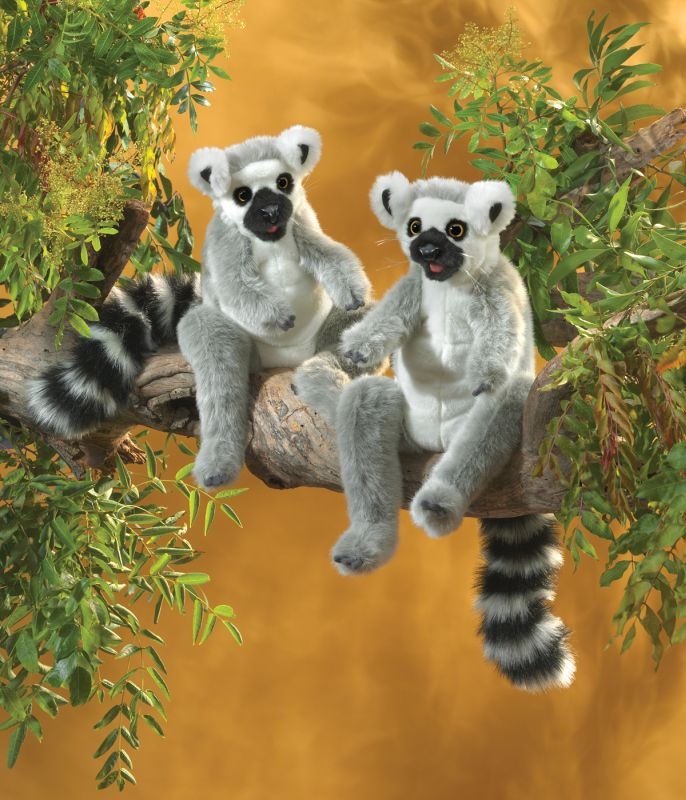 Ring-Tailed Lemur Hand Puppet - Folkmanis