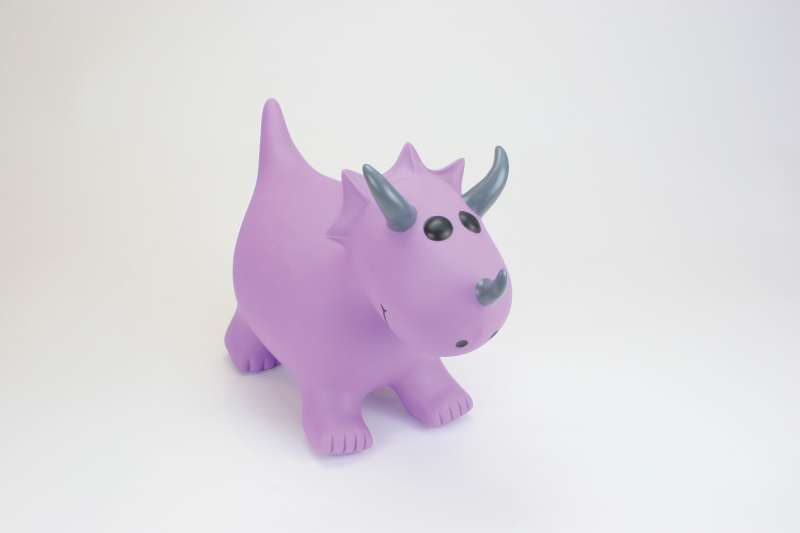 Purple Triceratops Small  - Happy Hopperz