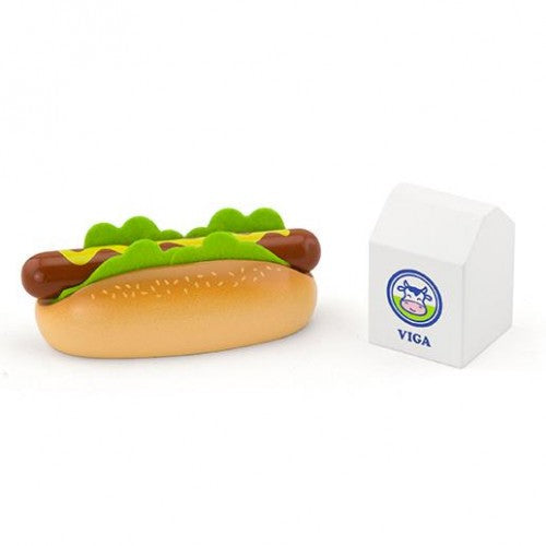 Hot Dog with Milk Play Set - Viga