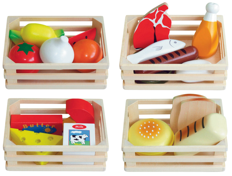 4-in-1 Wooden Food Box - Fun Factory