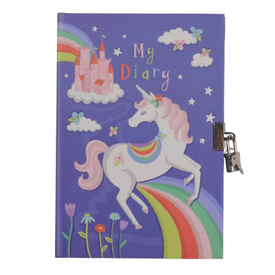 Unicorn Rainbows Lockable Diary - Tiger Tribe