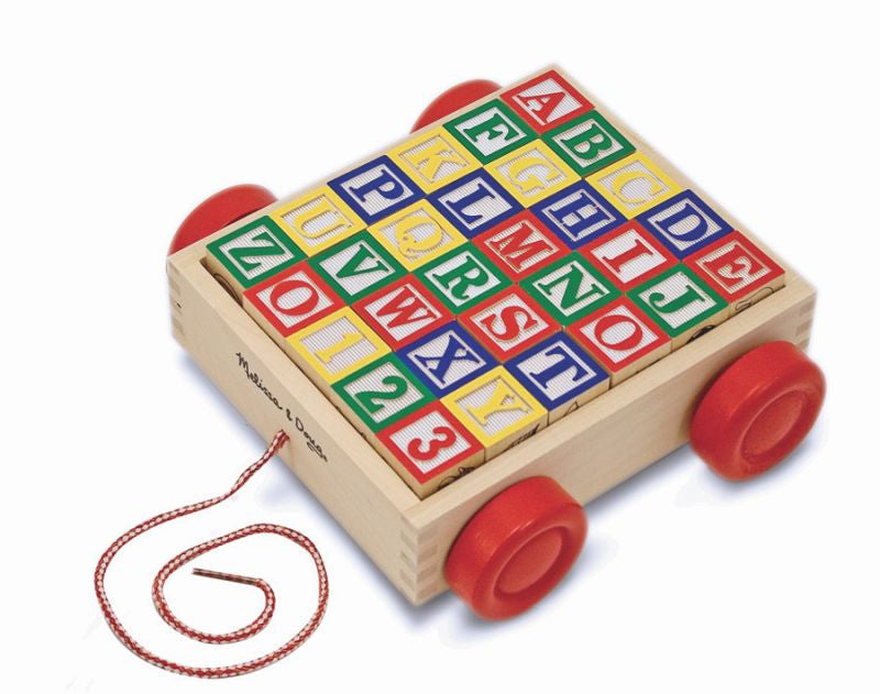 Wooden ABC 123 Block Cart - Melissa and Doug