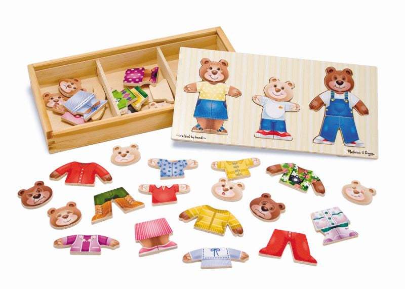 Wooden Bear Family Dress-Up - Melissa and Doug