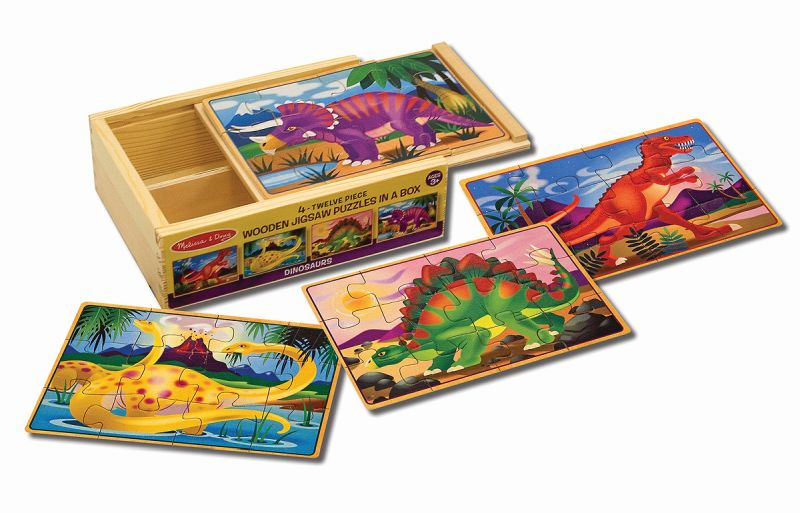Dinosaurs Jigsaw Puzzles in a Box - Melissa and Doug