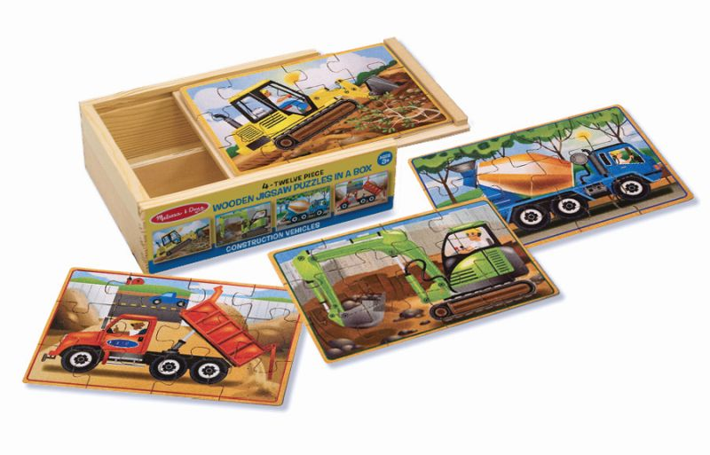Construction Jigsaw Puzzles in a Box - Melissa and Doug