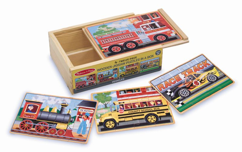 Vehicles Jigsaw Puzzles in a Box - Melissa and Doug
