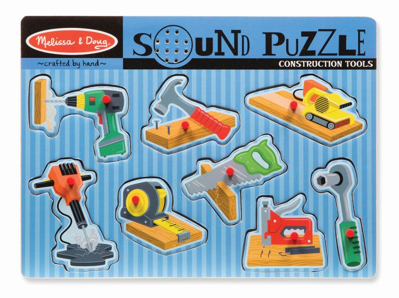 Construction Tools Sound Puzzle 8pc - Melissa and Doug
