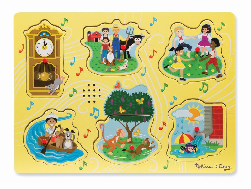 Nursery Rhymes Hickory Sound Puzzle - Melissa and Doug