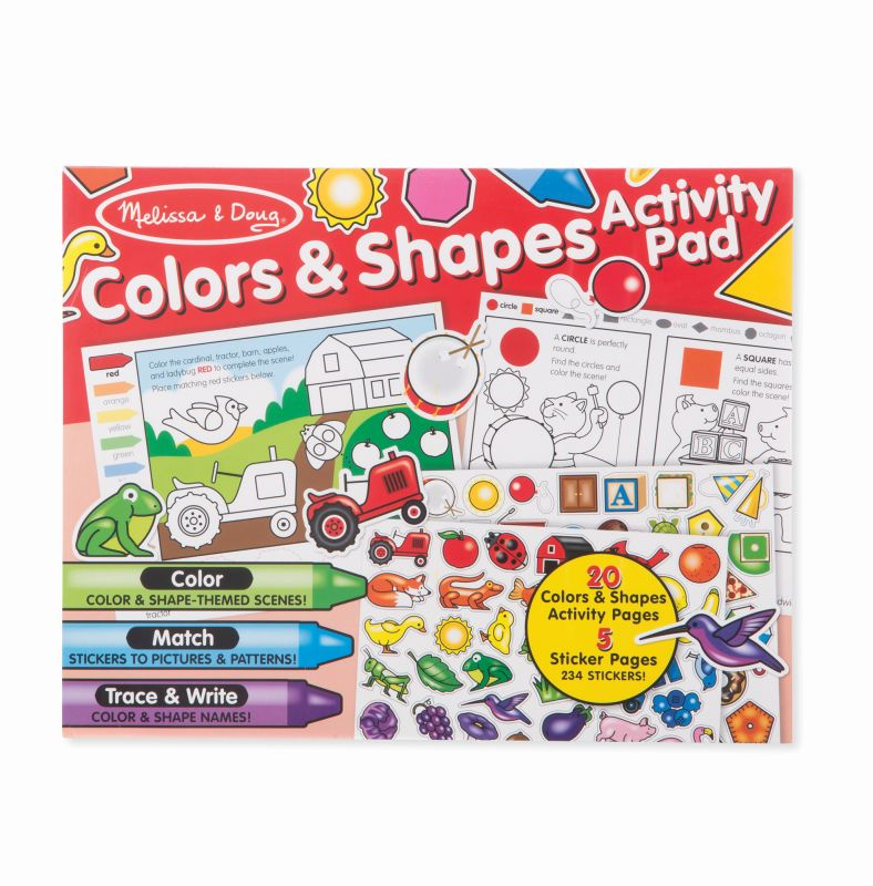 Colours and Shapes Activity Pad - Melissa and Doug