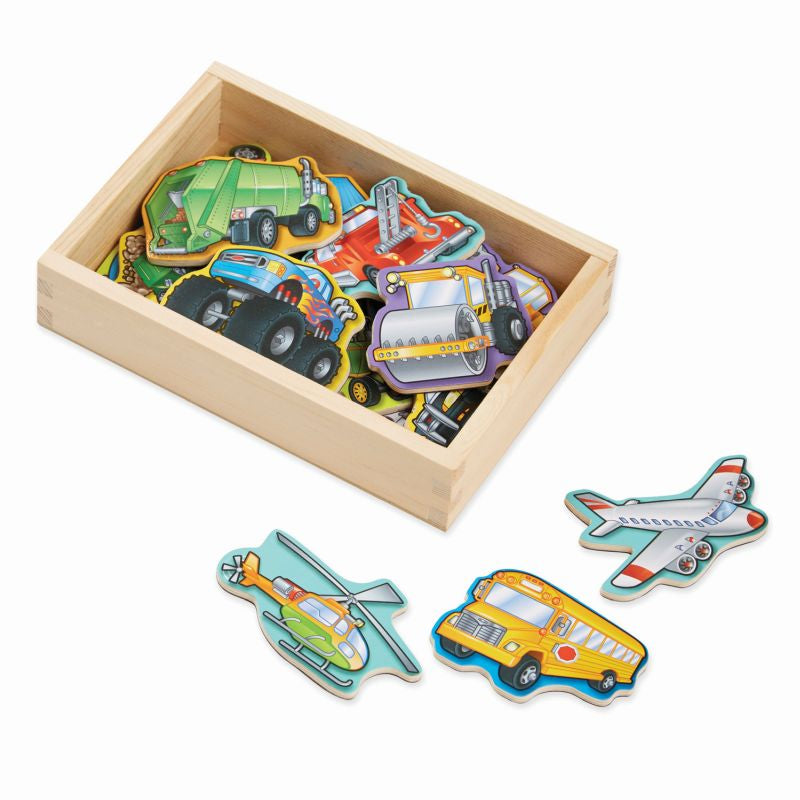Wooden Vehicle Magnets 20pcs - Melissa and Doug