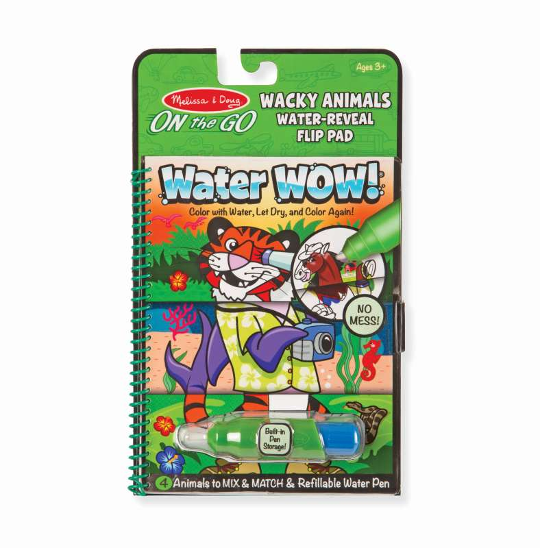 Wacky Animals Flip Pad Water WOW On The Go - Melissa and Doug