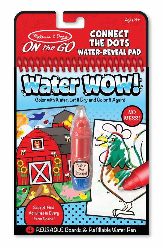 Farm Connect the Dots Water WOW On The Go - Melissa and Doug