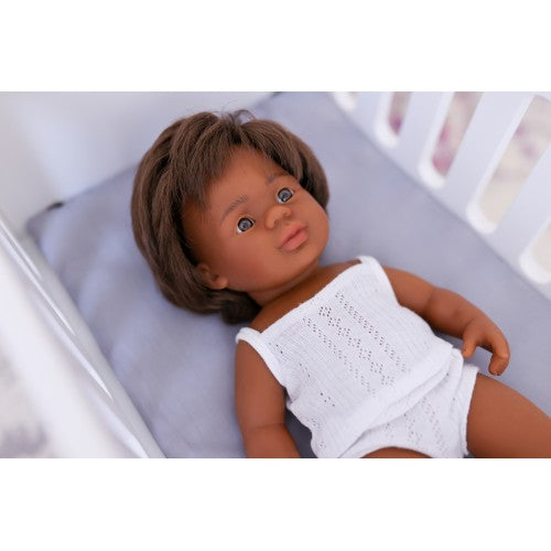 Aboriginal Boy 38cm Baby Doll (undressed) - Miniland