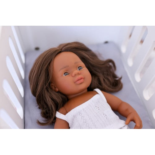 Aboriginal Girl 38cm Baby Doll (undressed) - Miniland