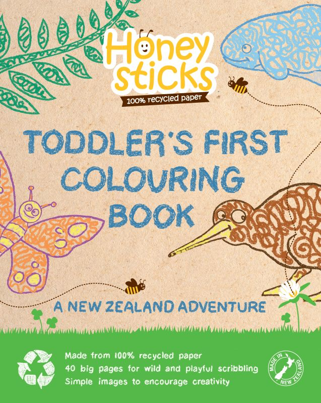 New Zealand Adventure Colouring Book - Honeysticks