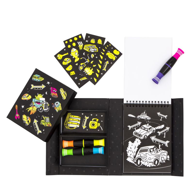 Road Stars Neon Colouring Set - Tiger Tribe